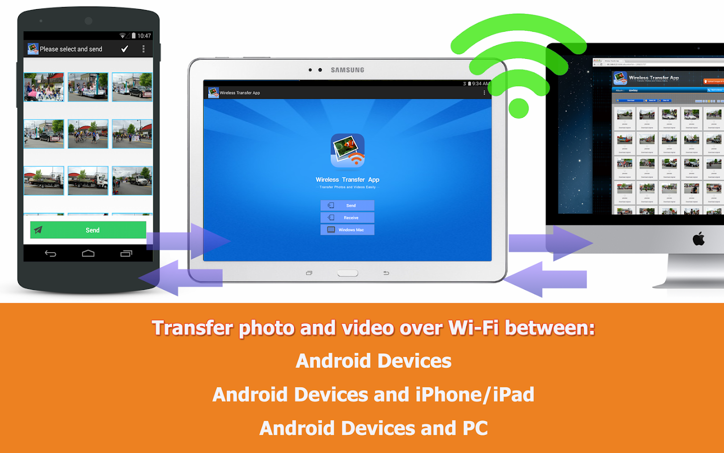 Wireless Transfer App- screenshot