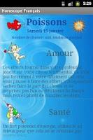 Screenshot of Horoscope français