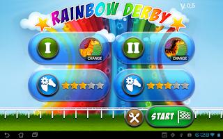Screenshot of Rainbow Derby