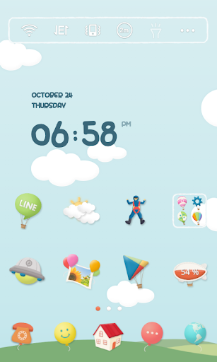Floating in clouds dodol theme