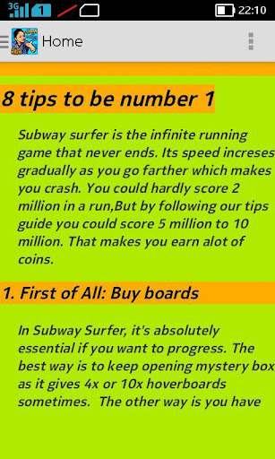 Guide For Subway Surf Runners