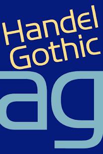 Handel Gothic FlipFont- screenshot thumbnail