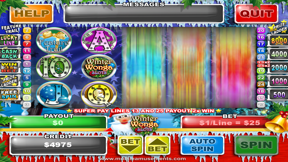 Winter Wonga Slots- screenshot