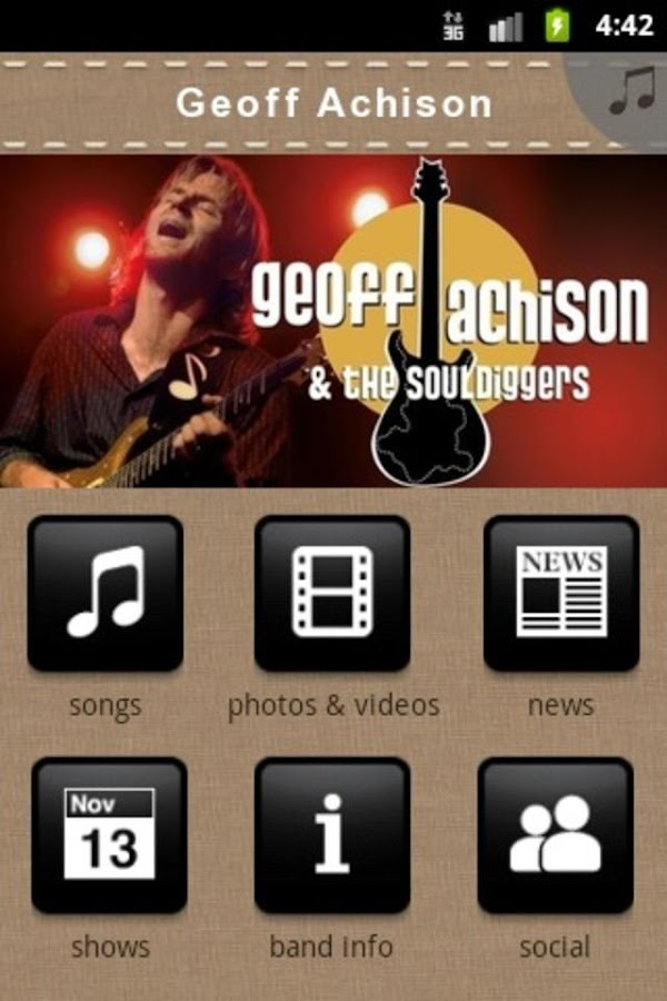 Geoff Achison - screenshot
