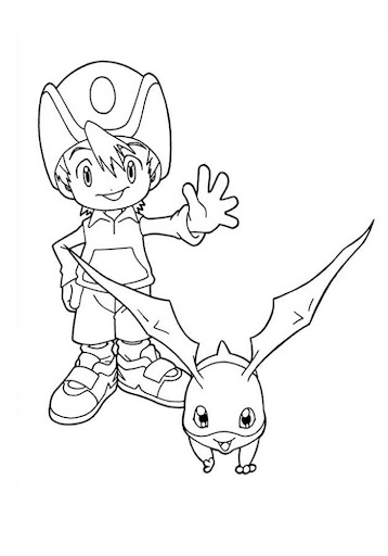 Games Digimon Kids Coloring