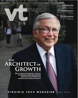 Screenshot of Virginia Tech Magazine