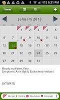 Screenshot of Period Tracker Deluxe