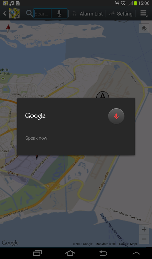 Location Alarm – Screenshot