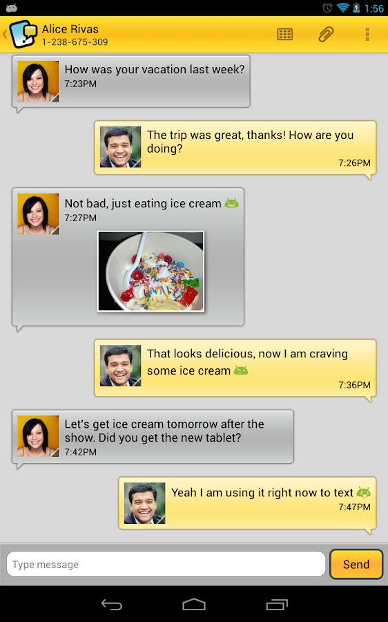 Tablet Talk: SMS & Texting App - screenshot