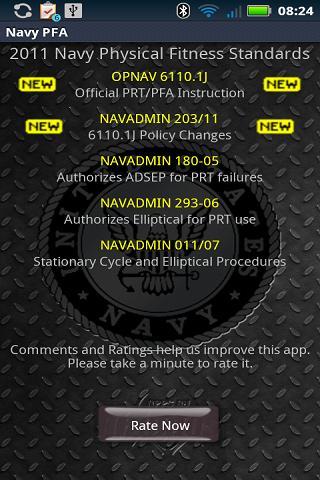 Navy PFA- screenshot