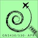 GARMIN 430/530W RNAV Approach logo