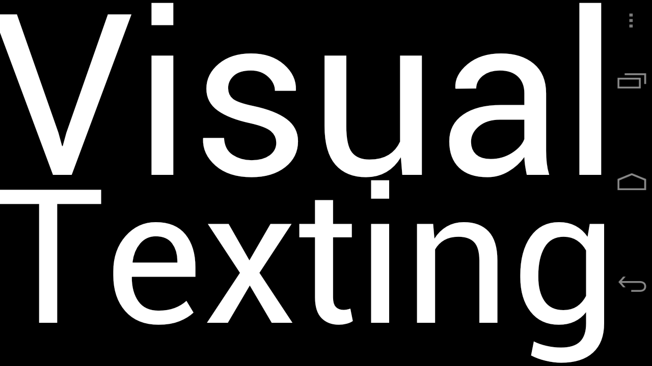 Visual Texting- screenshot