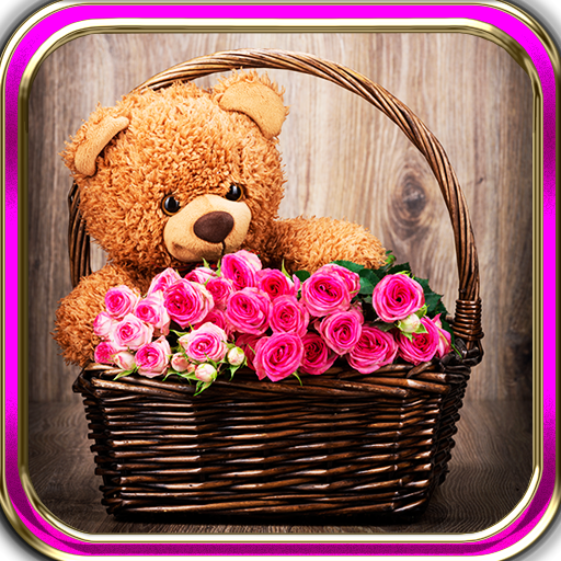 Teddy bear flowers HQ LWP LOGO-APP點子