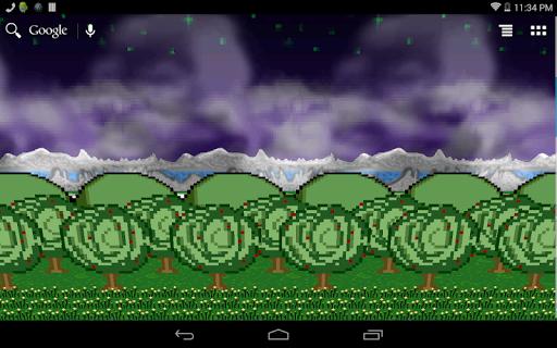 8-Bit Forest Wallpaper