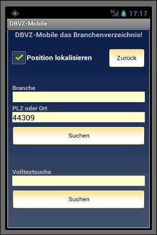 DBVZ das Branchenverzeichnis- screenshot