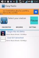 Screenshot of Easy Radio