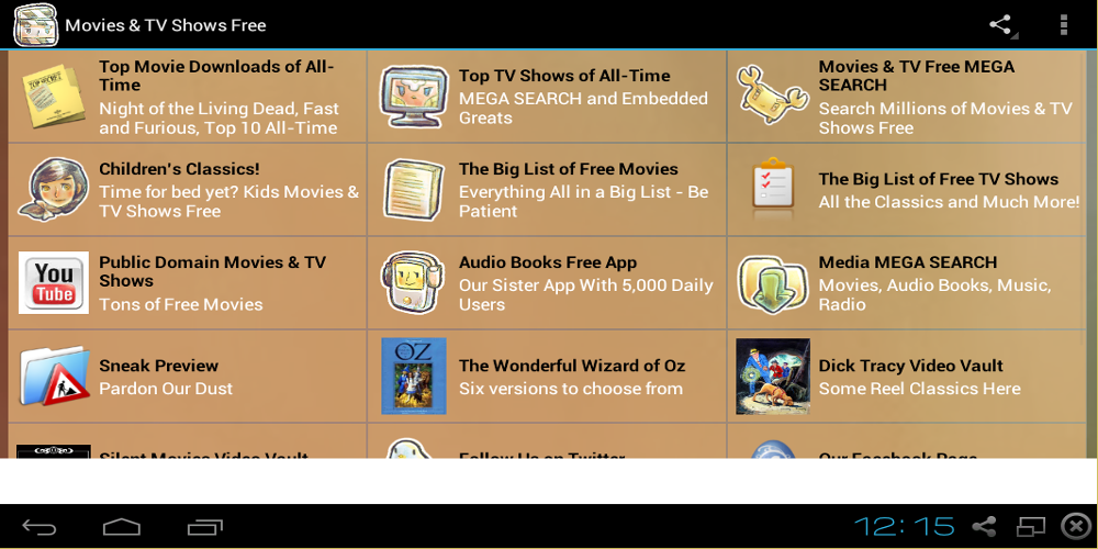Movies and TV Shows Free - screenshot