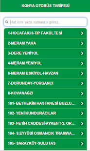Konya Otobüs Tarifesi - screenshot thumbnail