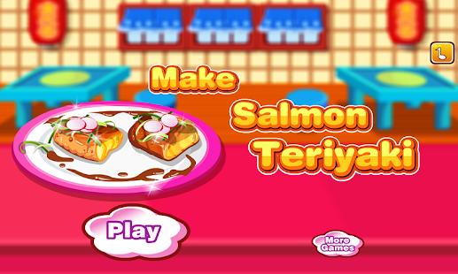 Salmon Teriyaki Cooking Games