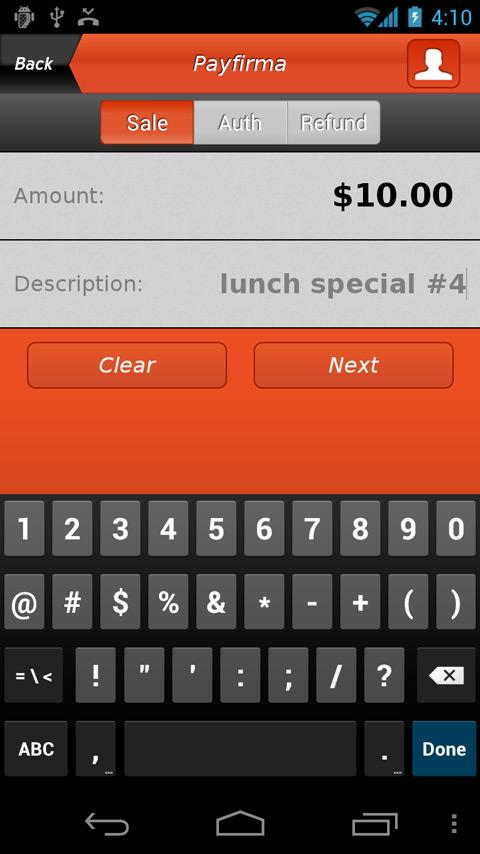 Payfirma Mobile Payments - screenshot