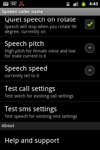 Talking SMS and Caller ID full - screenshot