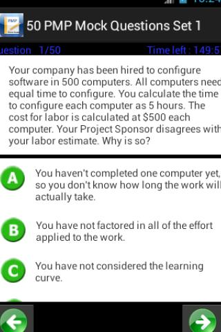 PMP Exam Prep 1600 Questions - screenshot