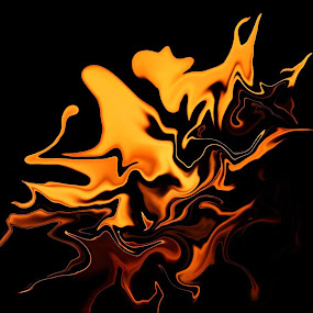 Face on fire by Josh Bosley - Digital Art Abstract