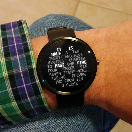 Word Clock Watch Face