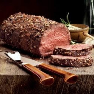 Roast Beef with Caramelized Onions.