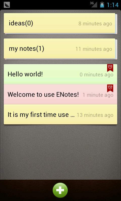 Notes - screenshot