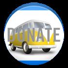 Car expenses donate icon