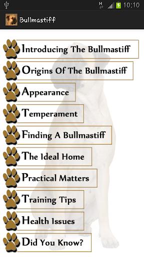 Bullmastiff App