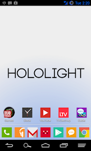 HOLO LIGHT NAVY AOKP/CM THEME - screenshot thumbnail