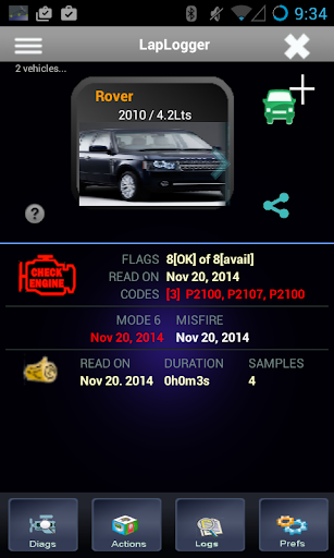 LapLogger Lite OBD Scanner