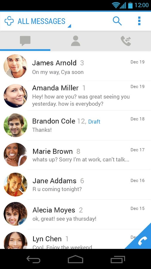 Messages + SMS - screenshot