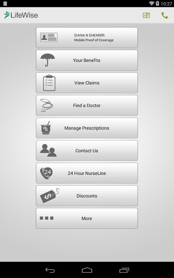 LifeWise Mobile- screenshot