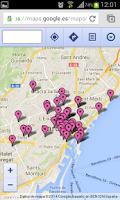 Screenshot of Barcelona NightCard