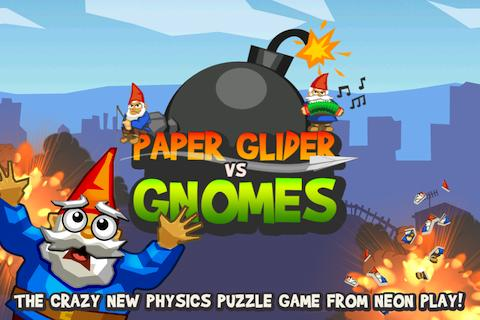 Paper Glider vs. Gnomes- screenshot