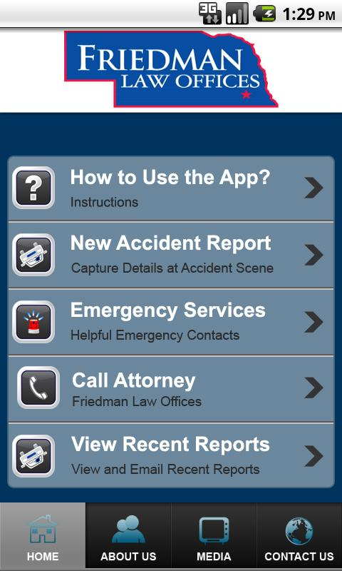 Accident App by Friedman Law- screenshot