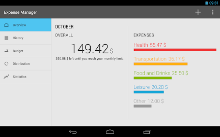 Expense Manager Screenshot 1