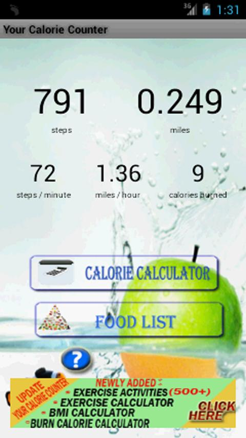 Your Calorie Counter- screenshot