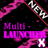 Pink Glitter Theme 4 Launchers