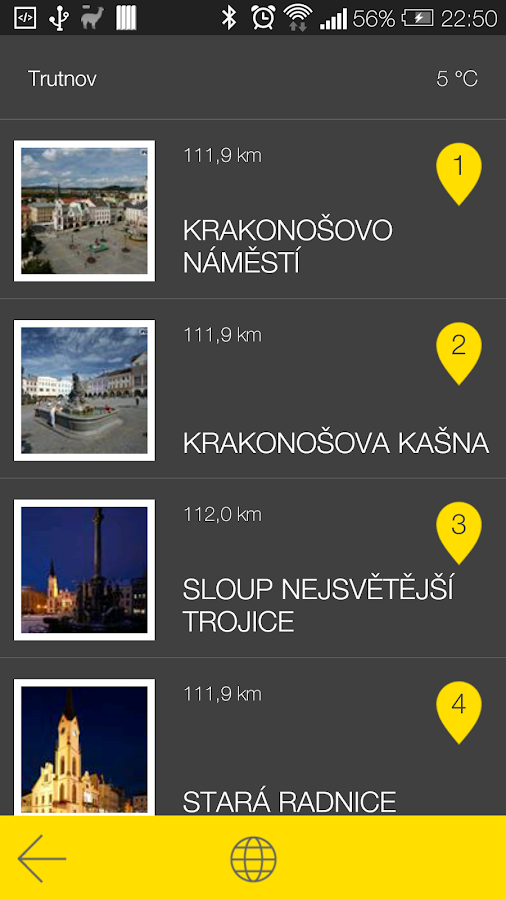 Trutnov - audio tour- screenshot