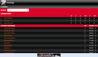 Screenshot of WHL