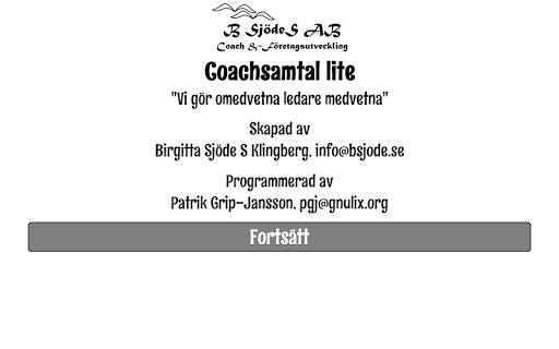 Coachsamtal trial