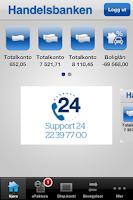 Screenshot of Handelsbanken Norge mobilbank