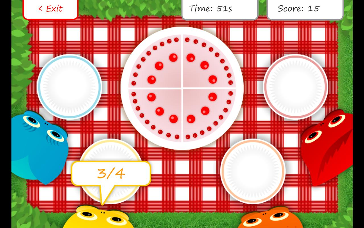 Squeebles Fractions- screenshot