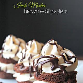 Irish Mocha Brownie Shooters