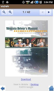 Virginia DMV- screenshot thumbnail