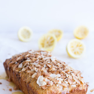 Toasted Coconut Lemon Bread with Salted Honey Butter..